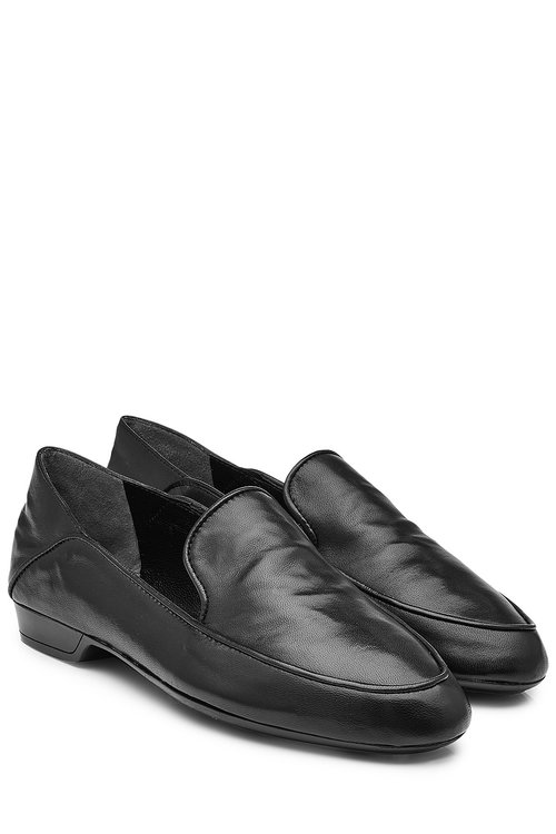 Robert Clergerie Leather Loafers In Black