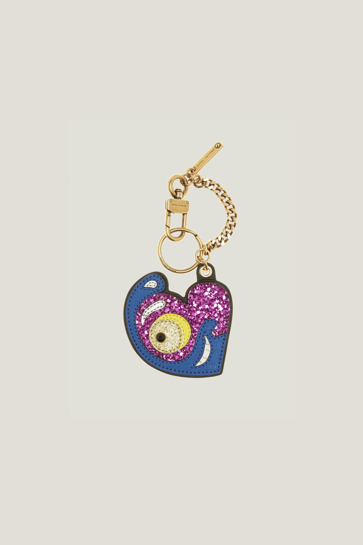 Marc Jacobs Julie Verhoeven Heart Bag Charm In Black Multi
