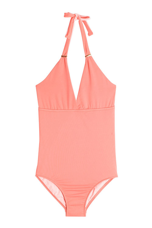 Melissa Odabash Remini Halterneck Swimsuit In Orange