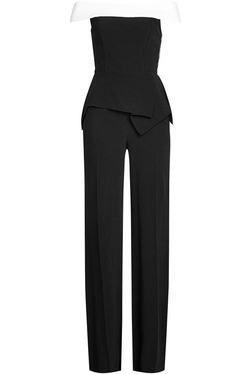 Roland Mouret Jumpsuit With Bardot Neckline In Black