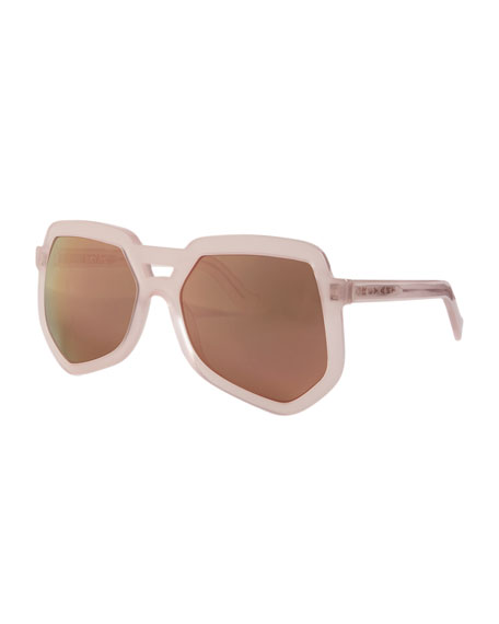Grey Ant Clip Acetate Aviator Sunglasses, Pink