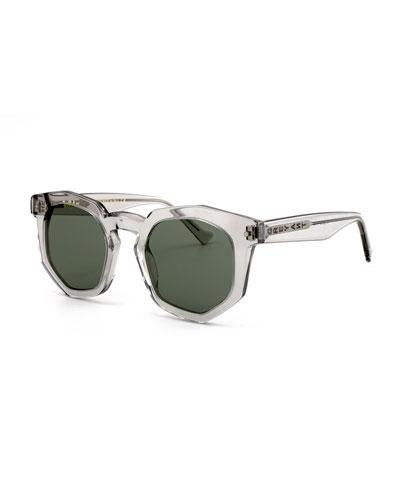 Grey Ant Composite Geometric Sunglasses, Light Gray In Light Grey