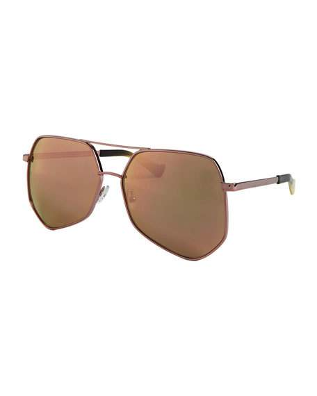 Grey Ant Megalast Oversized Aviator Sunglasses, Pink