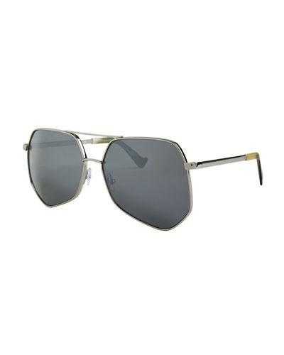 Grey Ant Megalast Ii Aviator Sunglasses, Silver