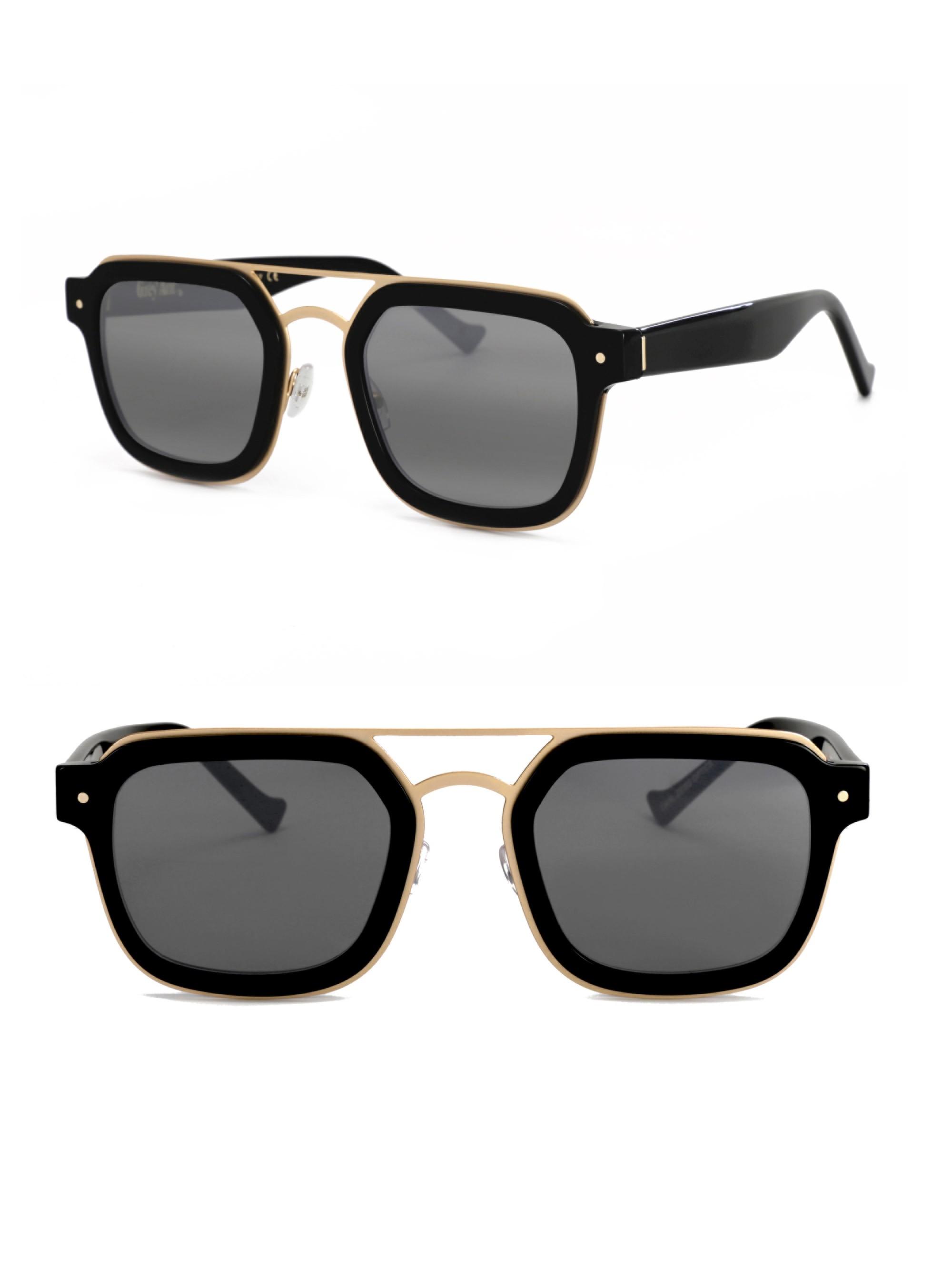 Grey Ant Notizia 52Mm Square Sunglasses In Black