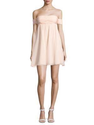 Rachel Zoe Melinda Silk Dress In Blush