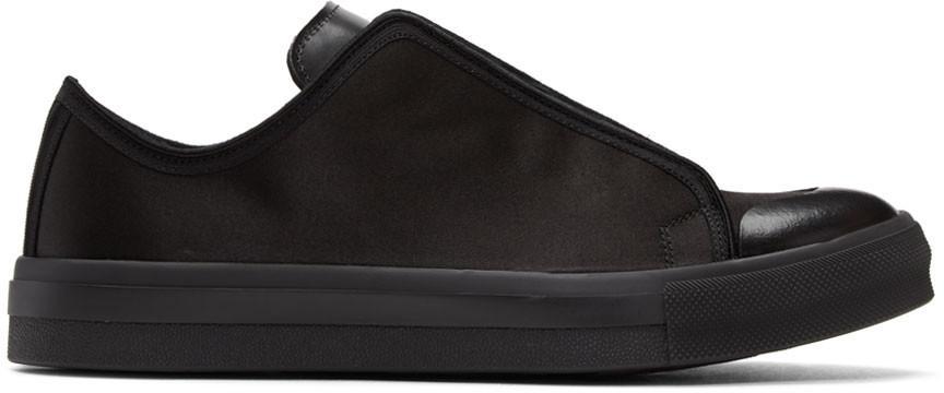 Alexander Mcqueen Black Hidden Lace Sneakers In 1000 - Blk/Blk/Blk/B