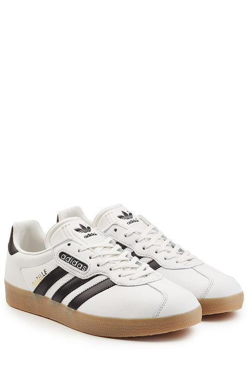 Adidas Originals Gazelle Super Leather Sneakers In White