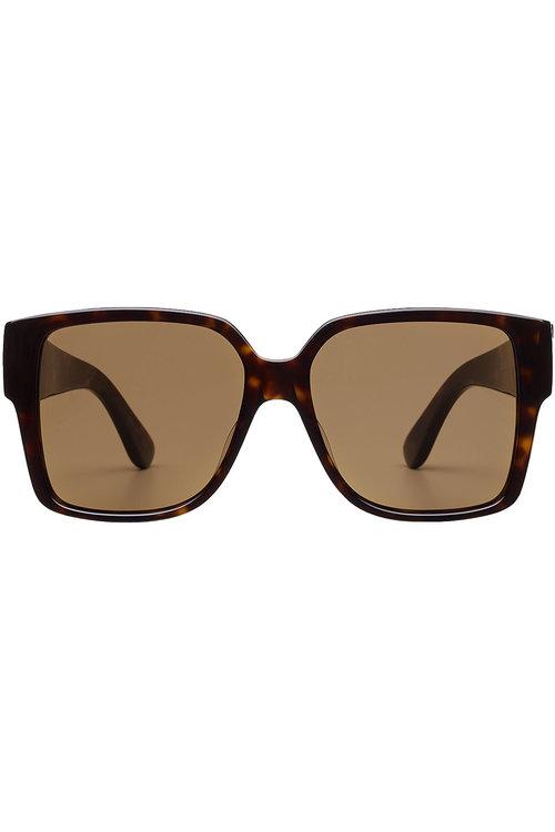 Saint Laurent Square Sunglasses In Multicolored