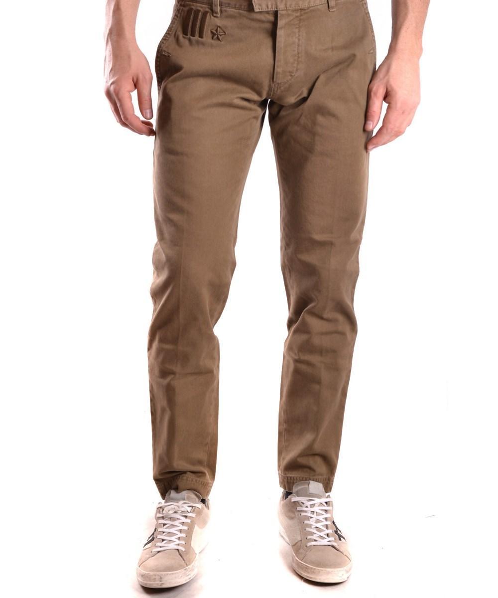 Dsquared2 Men's  Brown Cotton Pants