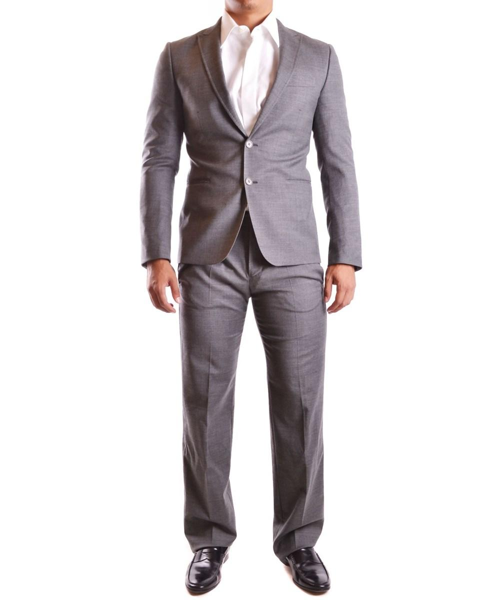 Bikkembergs Men's  Grey Polyester Suit