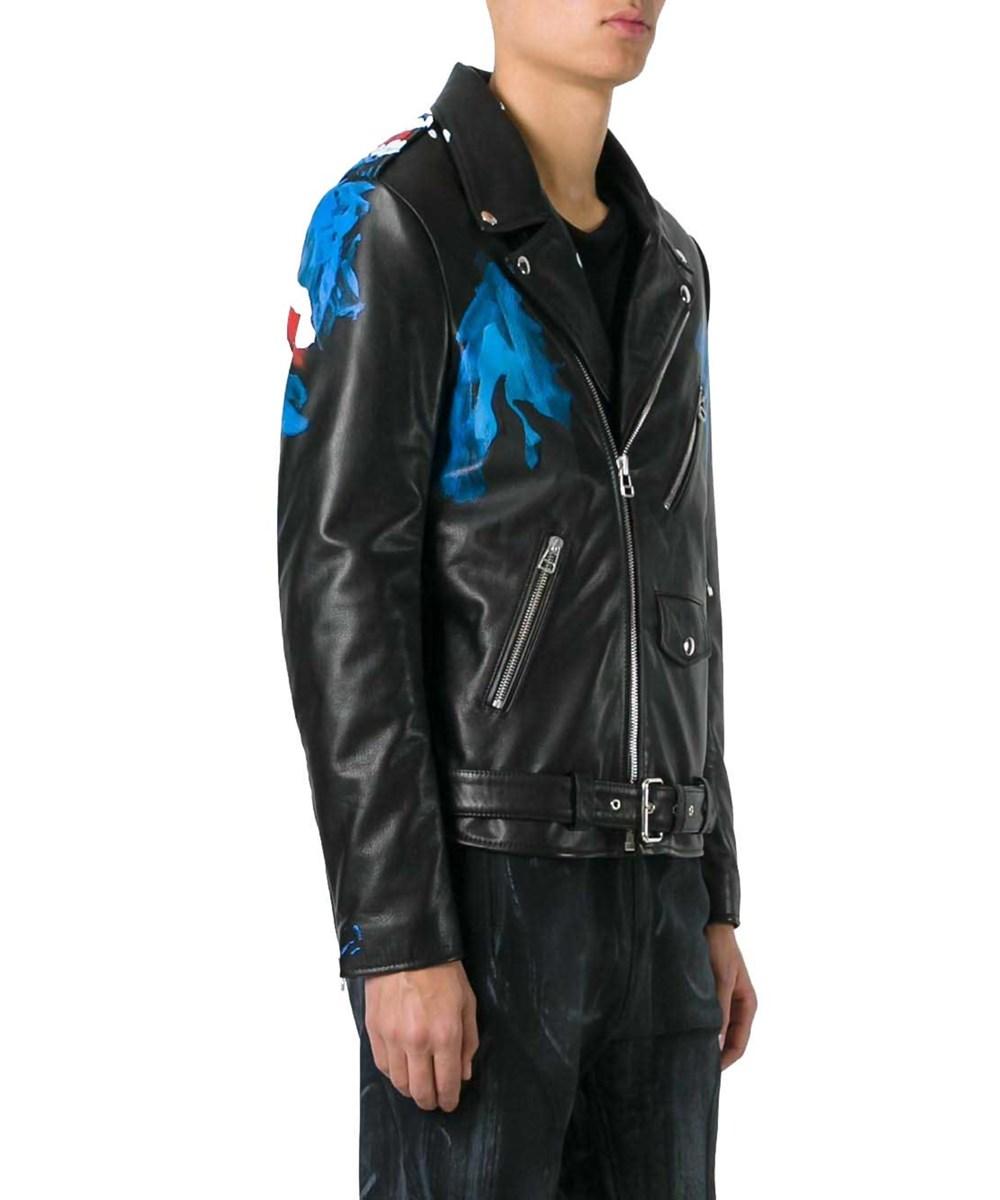 Faith Connexion Men's  Black Leather Outerwear Jacket