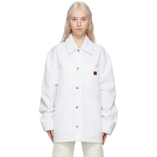 Acne Studios Workwear Jacket In White In 100 White