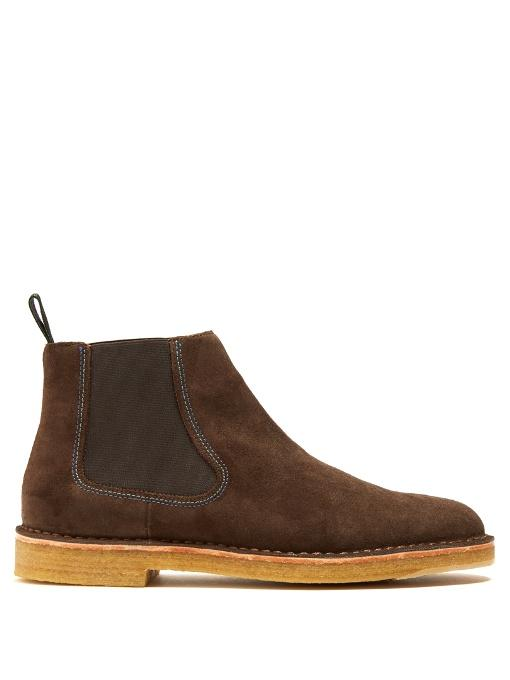 Paul Smith Dart Suede Chelsea Boots In Brown