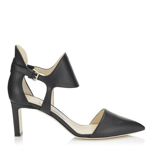 Jimmy Choo Moon 65 Black Smooth Leather Closed Toe Pumps