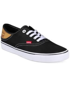 Levi's Men's Buck Cotton Canvas Low-Top Sneakers Men's Shoes In Black