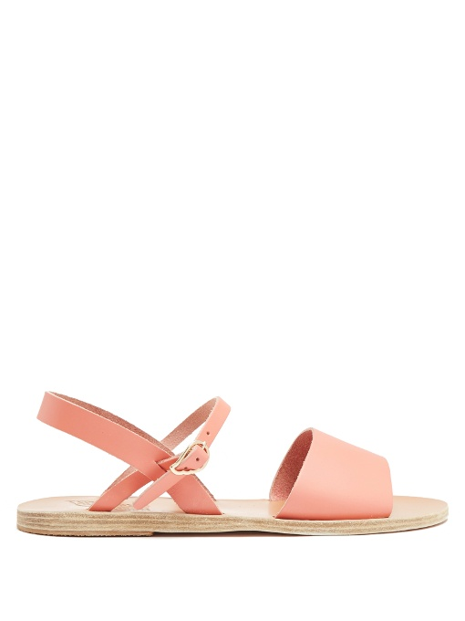 Ancient Greek Sandals Kaliroi Leather Sandals In Light Pink