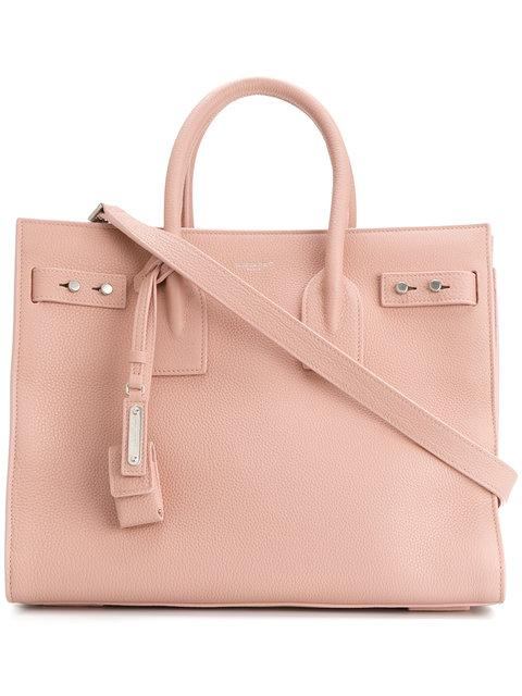 Saint Laurent Small Sac Du Jour Tote In Pink & Purple