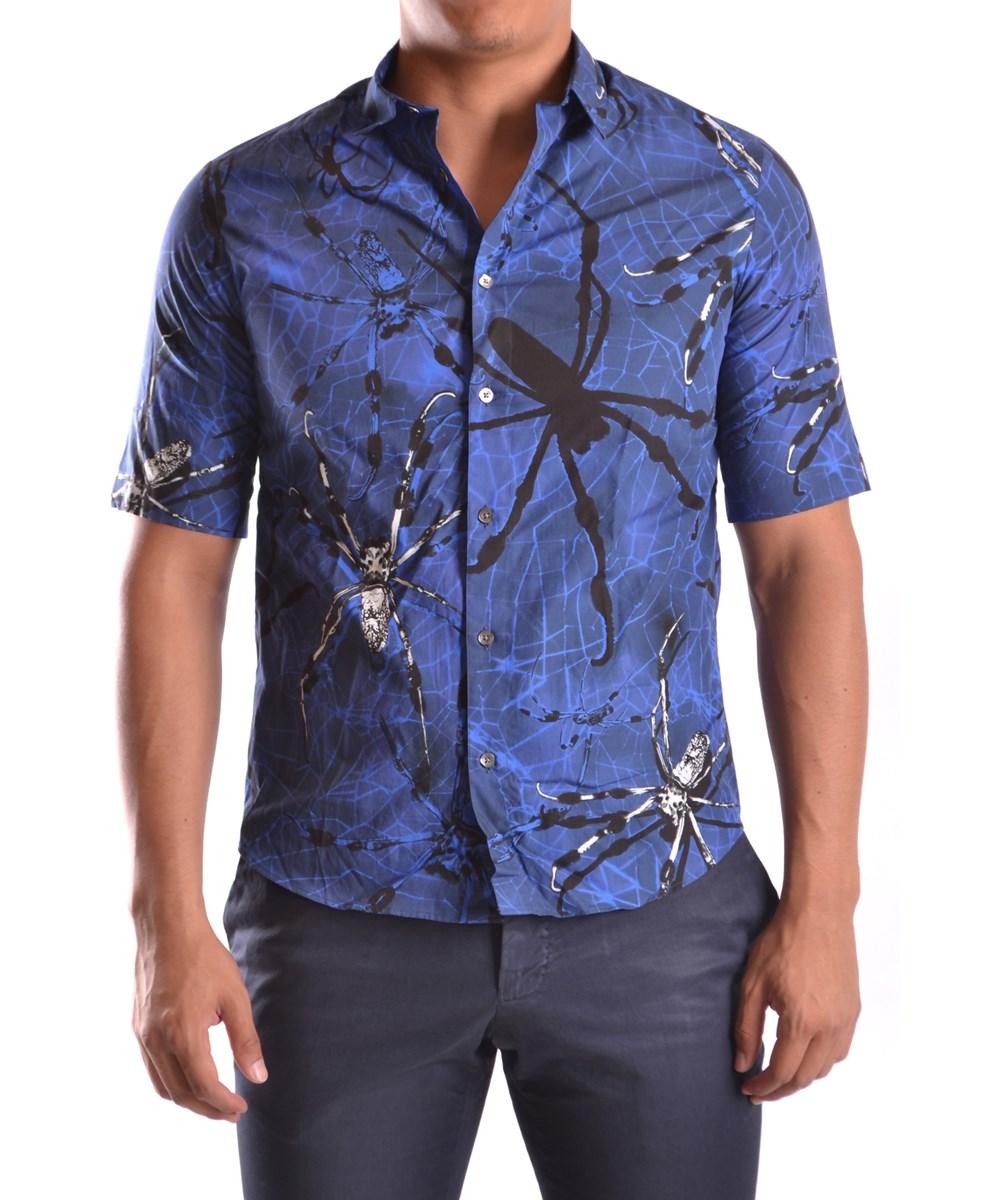 Mcq By Alexander Mcqueen Mcq Alexander Mcqueen Men's  Blue Cotton Shirt