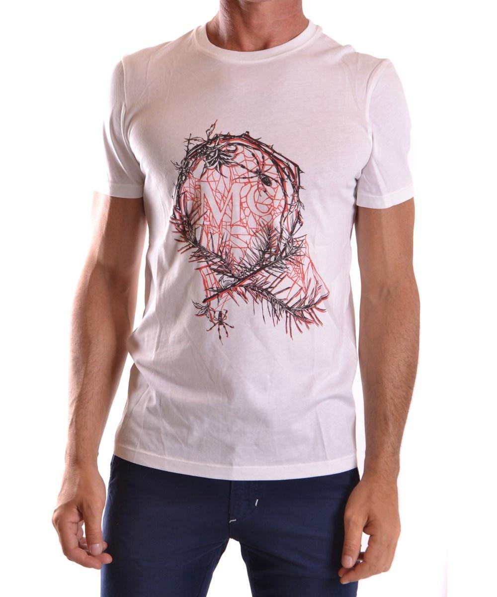 Mcq By Alexander Mcqueen Mcq Alexander Mcqueen Men's  White Cotton T-Shirt