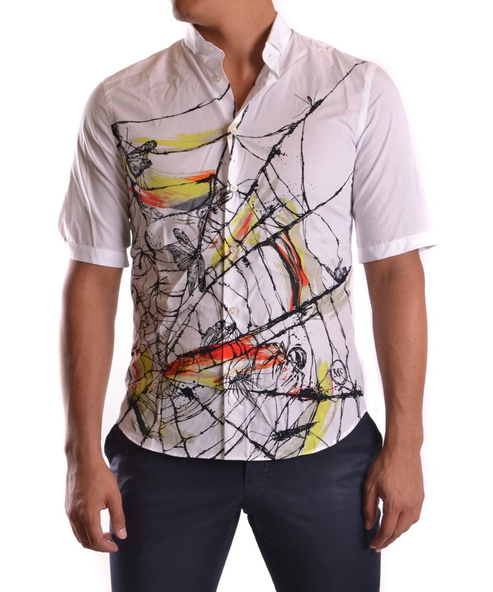 Mcq By Alexander Mcqueen Mcq Alexander Mcqueen Men's  White Cotton Shirt