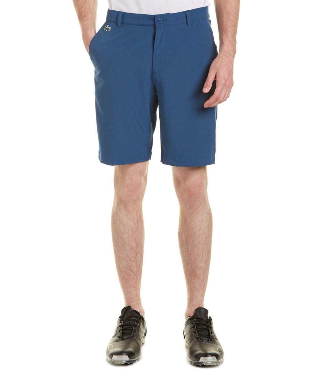 Lacoste Sport Golf Stretch Bermuda Short In Blue