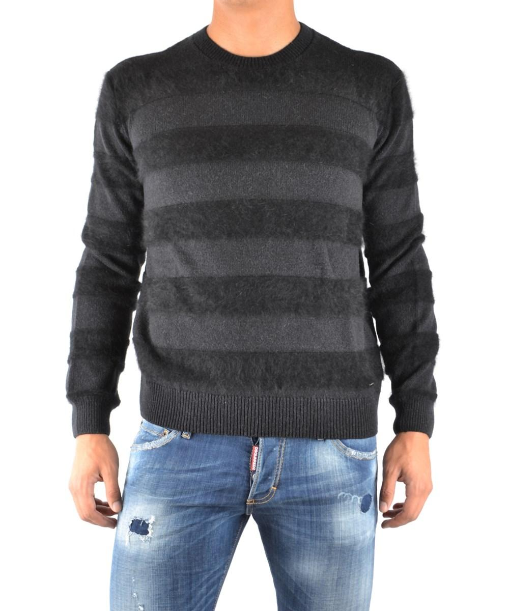Dsquared2 Men's  Grey/Black Wool Sweater