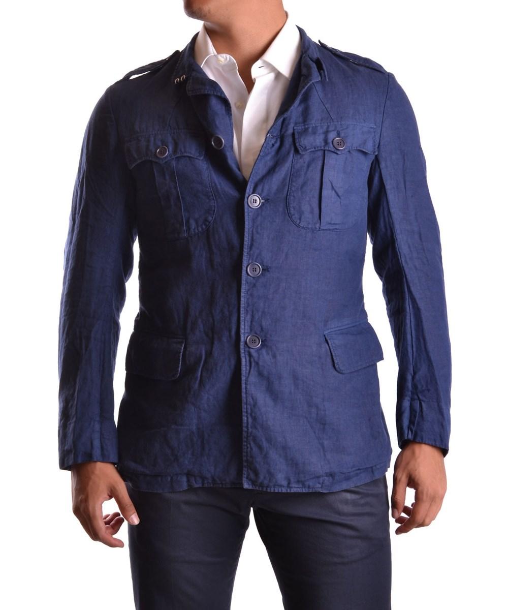Yohji Yamamoto Men's  Blue Linen Jacket