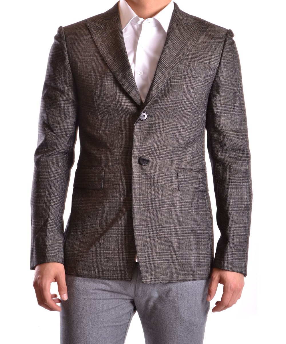 Bikkembergs Men's  Grey Wool Blazer