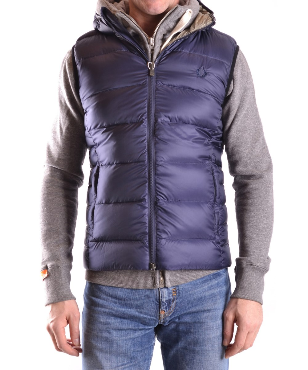Fred Perry Men's  Blue Polyamide Vest