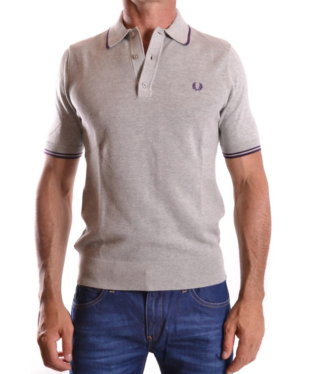Fred Perry Men'S  Grey Cotton Polo Shirt'