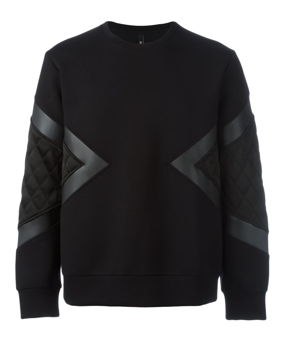 Neil Barrett Men's  Black Cotton Sweatshirt'