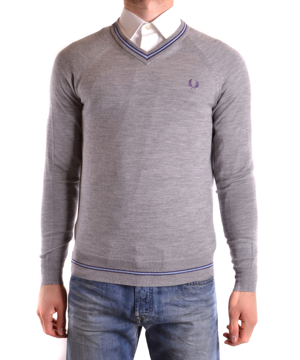 Fred Perry Sweaters In Grey