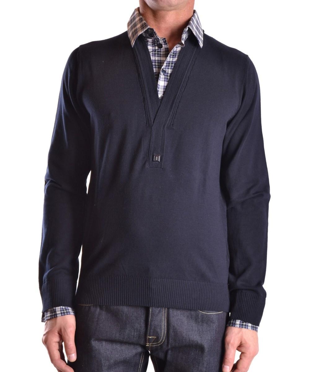 Bikkembergs Men's  Blue Cotton Sweater