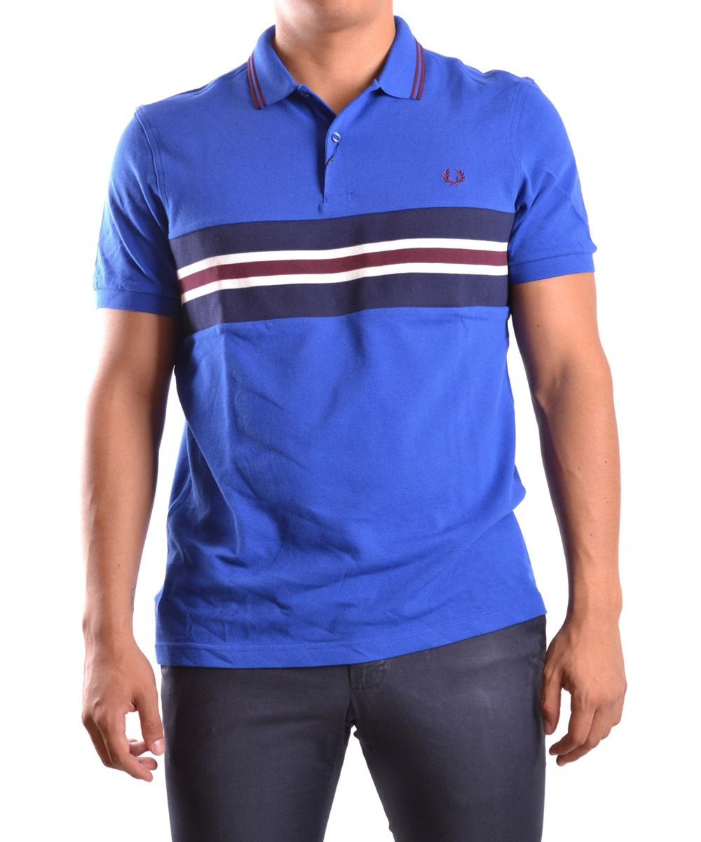 Fred Perry Men's  Light Blue Cotton Polo Shirt
