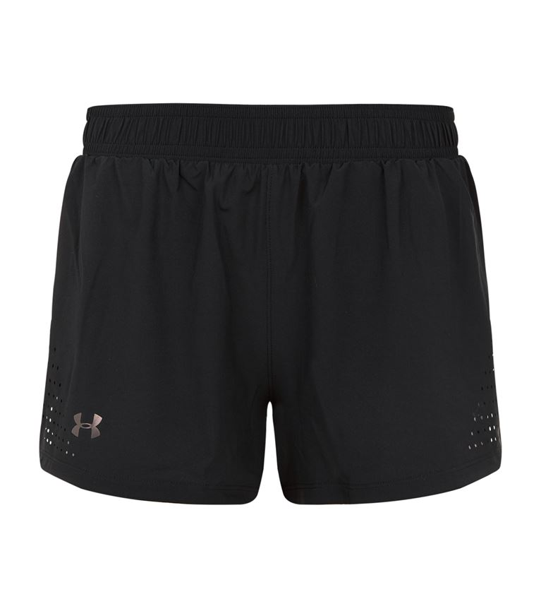 Under Armour Accelerate Split Running Shorts In Black