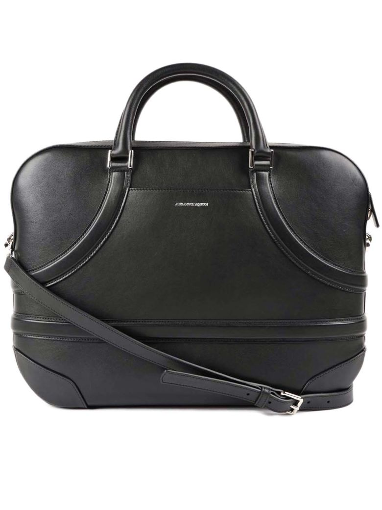 Alexander Mcqueen Harness Briefcase In Black