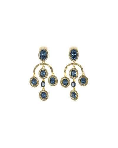 Oscar De La Renta PavÉ Crystal Oval Drop Clip-On Earrings In Gold