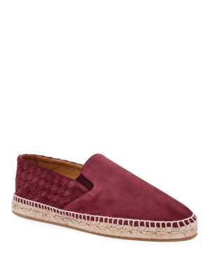Bottega Veneta Two-Textured Suede Espadrilles In Maroon