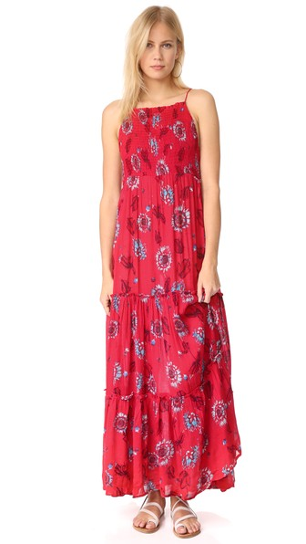 Free People Garden Party Maxi Dress In Red Combo