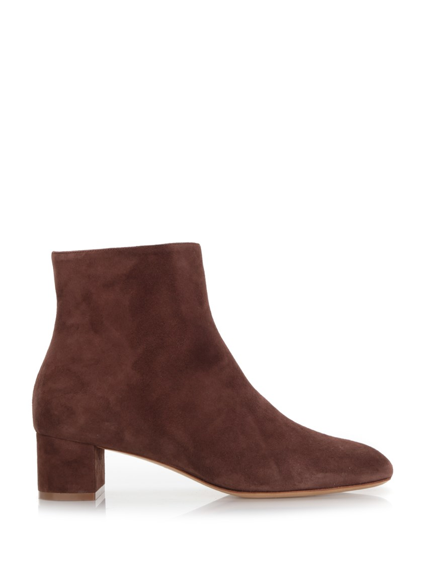 Mansur Gavriel 40Mm Suede Ankle Boots In Brown