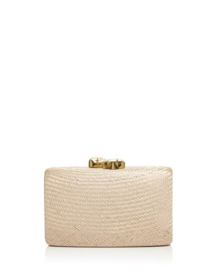 Kayu Jen Large Stone Clutch In Toast/Gold