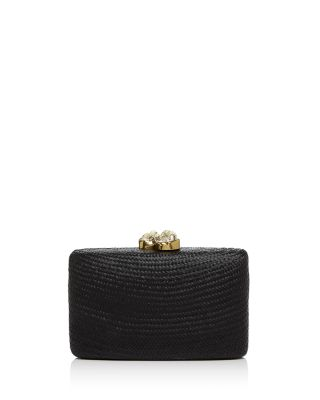 Kayu Jen Large Stone Clutch In Black/Gold