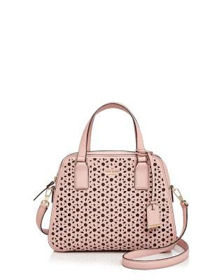 Kate Spade New York Cameron Street Little Babe Perforated Leather Satchel In Pink Sunset/Gold
