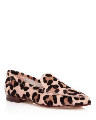 Kate Spade New York Carima Leopard Print Calf Hair Loafers In Blush/Fawn Leopard