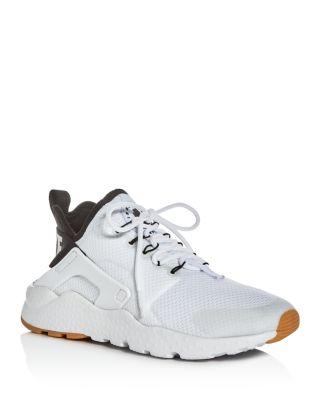 on sale 8e13e f6b87 Nike Women s Air Huarache Run Ultra Lace Up Sneakers In White Black