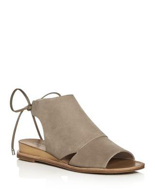 Kenneth Cole Jayda Back Tie Demi Wedge Sandals In Cloud