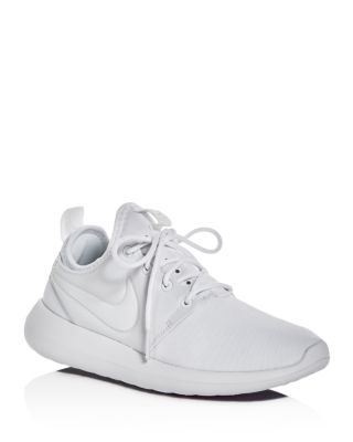 Nike Women's Roshe Two Casual Sneakers From Finish Line In White/White-Pure Platinum