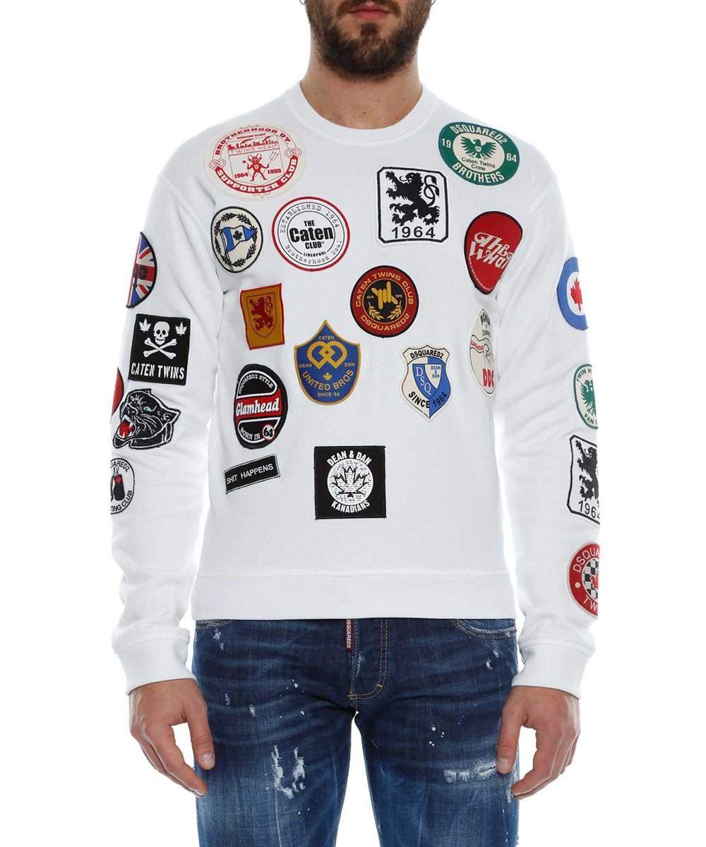 Dsquared2 Men's  White Cotton Sweatshirt