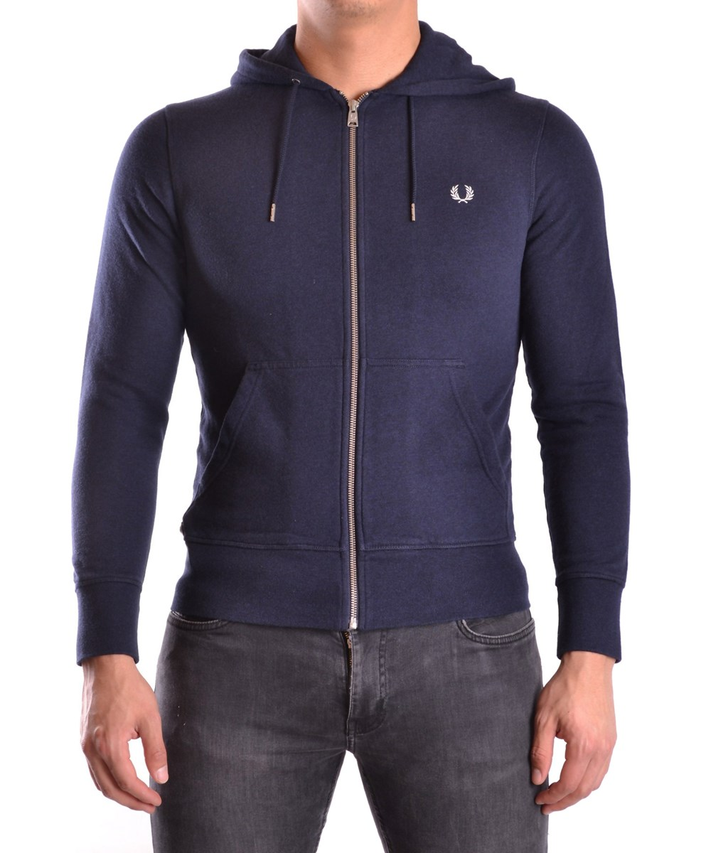 Fred Perry Men'S  Blue Cotton Sweatshirt'